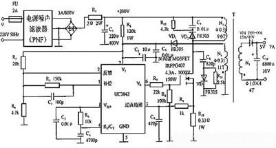 3842开关电源电路图_判断ka3842a好坏