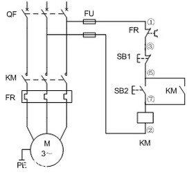 电动机单方向运行电路图片