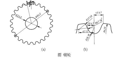 如图a所示为某企业生产的自动扶梯的链轮轮廓的示意简图.