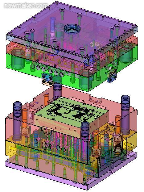 CimatronE针对油盘模具设计与制造的型腔挡机械手册设计一体图片
