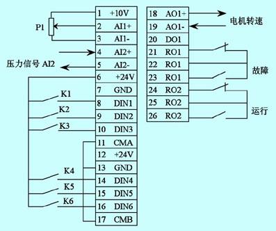 图2  变频器端子接线图