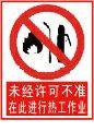 未经许可不准在此进行热工作业标志