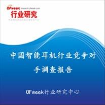 中国智能耳机行业竞争对手调查报告(2017版)